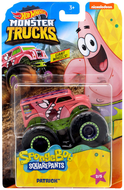 Hot Wheels Monster Trucks Spongebob Squarepants Patrick Diecast Car #2/5