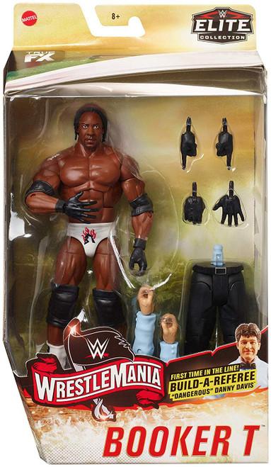 "WWE Wrestling Elite Collection WrestleMania 19 Booker T Action Figure [Build Referee ""Dangerous"" Danny Davis!]"
