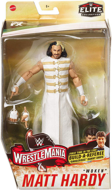 "WWE Wrestling Elite Collection WrestleMania 34 Matt Hardy Action Figure [Build Referee ""Dangerous"" Danny Davis!]"