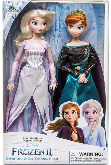 Disney Frozen 2 Queen Anna & Snow Queen Elsa Exclusive 11.5-Inch Doll 2-Pack