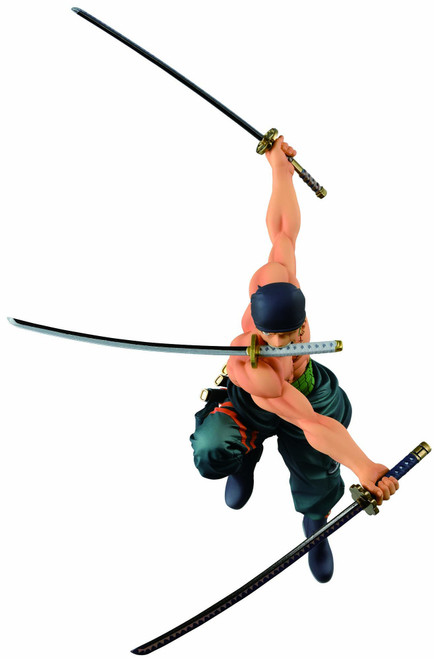 One Piece Ichiban Zoro 6.3-Inch Collectible PVC Figure [Great Banquet]