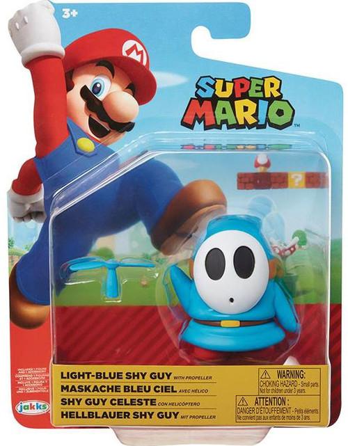 World of Nintendo Wave 19 Light Blue Shy Guy Action Figure [Propeller]