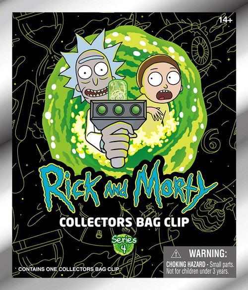 3D Figural Foam Bag Clip Rick & Morty Series 4 Mystery Box [24 Packs]