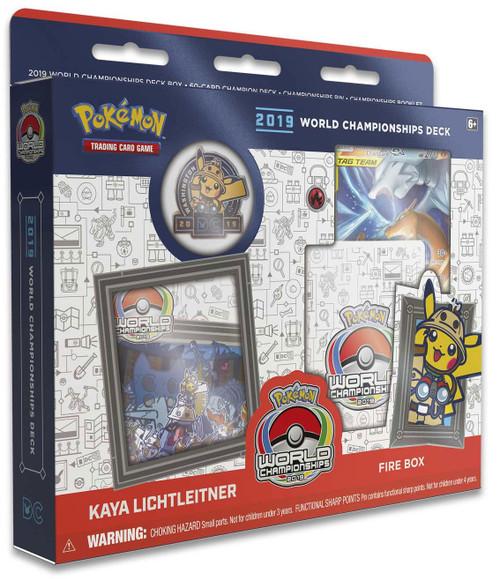 Pokemon Trading Card Game 2019 World Championships Kaya Lichtleitner Starter Deck [Fire Box]