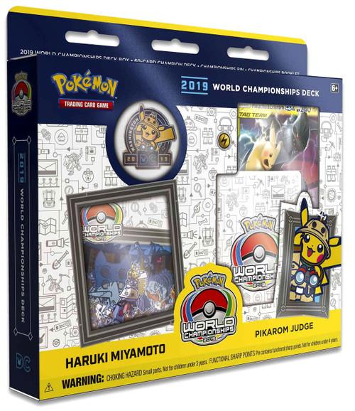Pokemon Trading Card Game 2019 World Championships Haruki Miyamoto Starter Deck [Pikarom Judge]