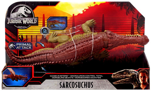 Jurassic World Fallen Kingdom Primal Attack Sarcosuchus Action Figure [Massive Biters]