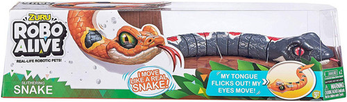 Robo Alive Slithering Snake Robotic Pet Figure [Black]