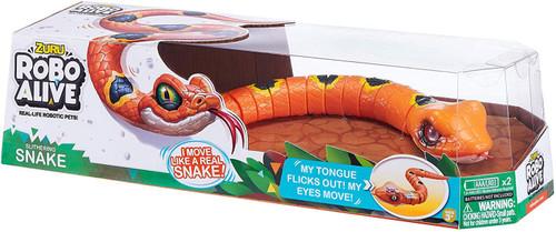 Robo Alive Slithering Snake Robotic Pet Figure [Orange]