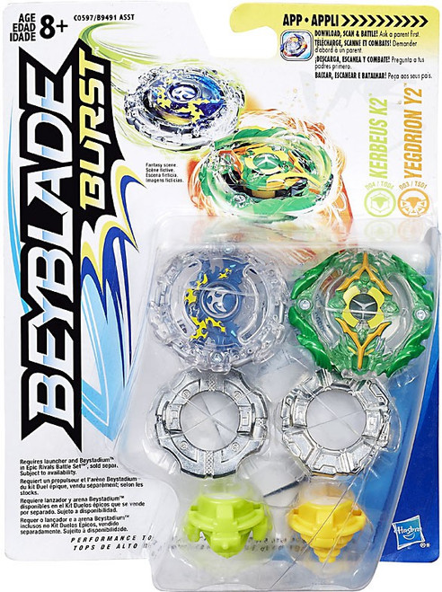 Beyblade Burst Kerbeus K2 & Yegdrion Y2 Dual Pack [Damaged Package]