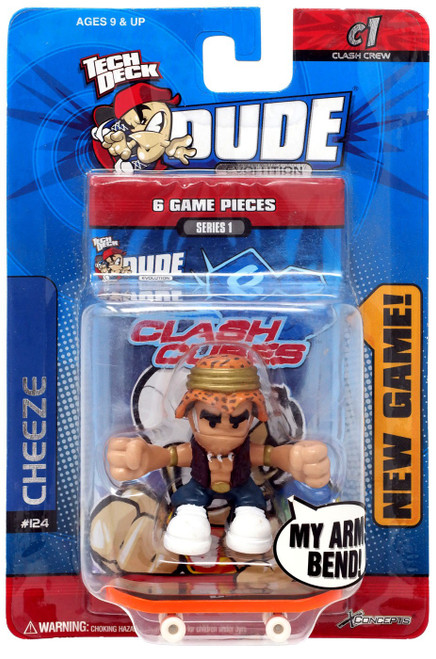 Tech Deck Evolution Clash Crew Series 1 Cheeze Mini Figure #124
