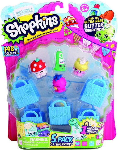 Shopkins Season 1 Mini Figure 5-Pack [Damaged Package]