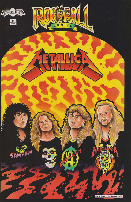 Revolutionary Comics Rock N' Roll #2 Metallica Comic Book [2nd Printing]