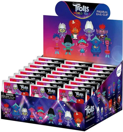 3D Figural Keyring Trolls World Tour Series 1 Mystery Box [24 Packs]