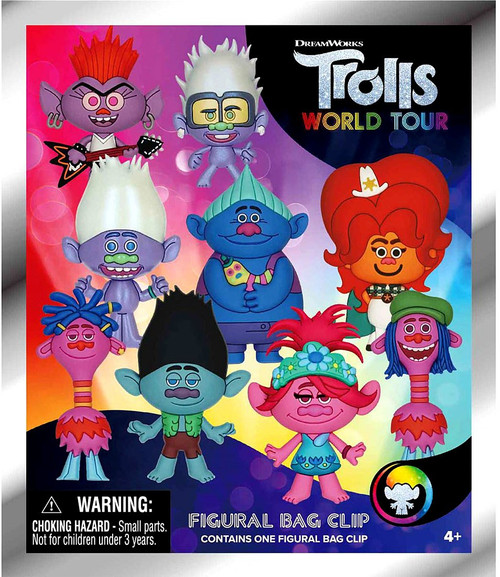 3D Figural Keyring Trolls World Tour Series 1 Mystery Pack [1 Figure]