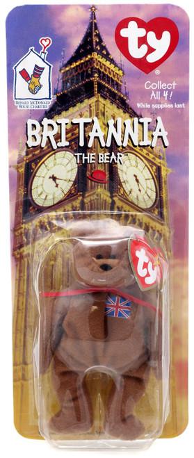 Beanie Babies McDonalds 1999 Britannia the Bear Beanie Baby Plush