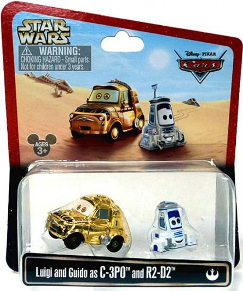 Disney / Pixar Cars Star Wars Luigi & Guido as C-3PO & R2-D2 Exclusive Diecast Car 2-Pack