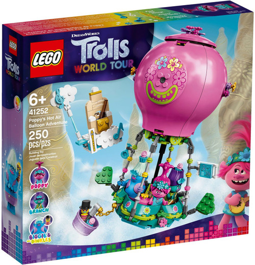 LEGO Trolls World Tour Poppy's Hot Air Balloon Adventure Set #41252