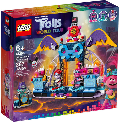 LEGO Trolls World Tour Volcano Rock City Concert Set #41254