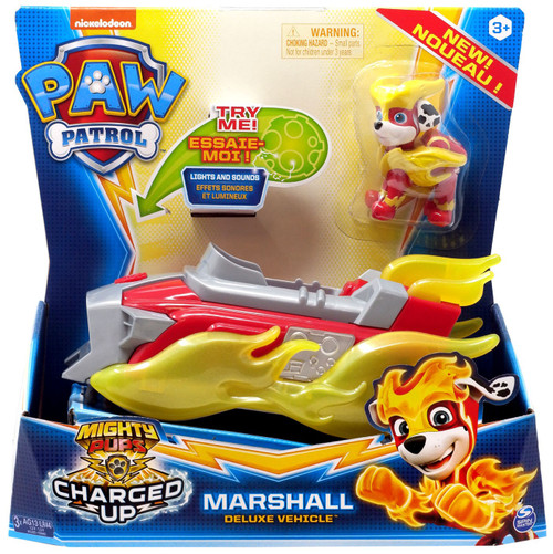 Paw Patrol Mighty Pups Charged Up Marshall Deluxe Vehicle