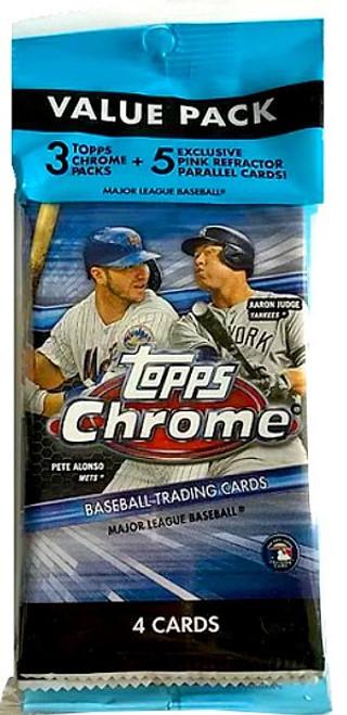 MLB Topps 2020 Chrome Baseball Trading Card VALUE Pack [3 Packs + 5 Refractor Parallel Cards]