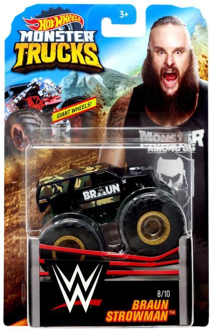 Hot Wheels Monster Trucks WWE Braun Strowman Diecast Car