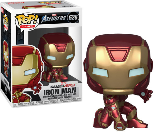 Funko Marvel Avengers GamerVerse POP! Games Iron Man Vinyl Bobble Head #626 [Stark Tech Suit]