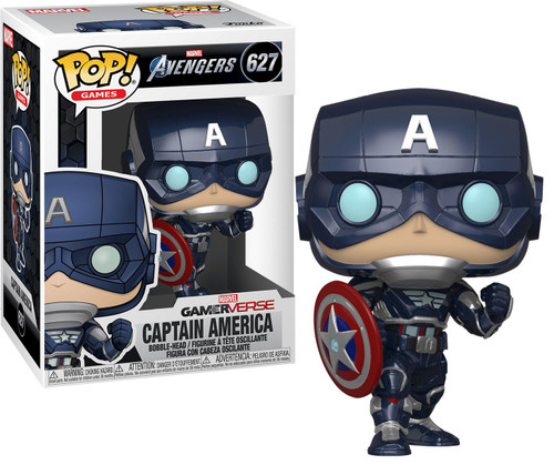 Funko Marvel Avengers GamerVerse POP! Games Captain America Vinyl Bobble Head #627 [Stark Tech Suit]