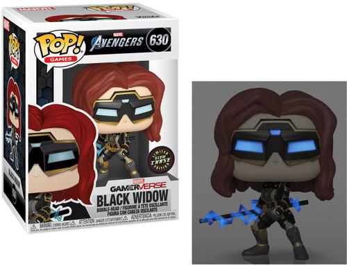Funko Avengers GamerVerse POP! Marvel Black Widow Vinyl Bobble Head #630 [Stark Tech Suit, Chase Version, Glow-in-the-Dark]