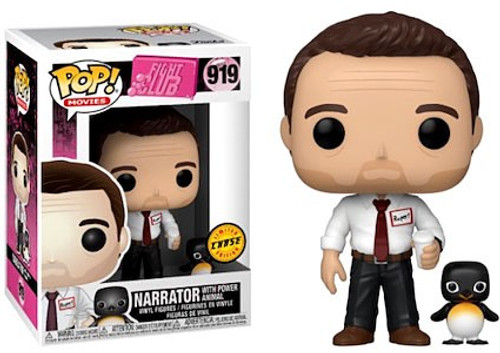 Funko Fight Club POP! Movies Narrator with Power Animal Vinyl Figure #919 [Chase Version]