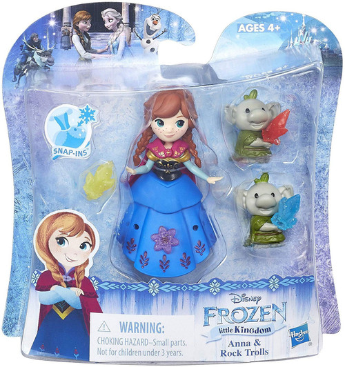 Disney Frozen Little Kingdom Anna & Rock Trolls Mini Doll