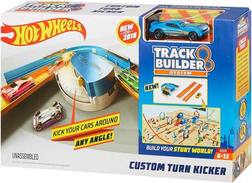 Hot Wheels Track Builder System Custom Turn Kicker Track Set