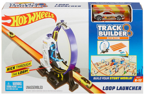 Hot Wheels Track Builder System Loop Launcher Track Set