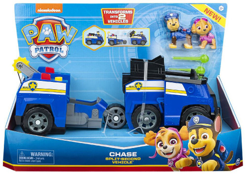 Paw Patrol Chase Split-Second Transforming Vehicle & Figure