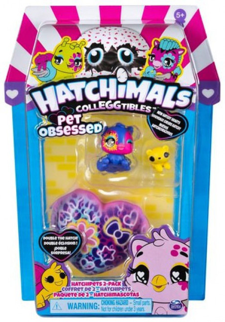 Hatchimals Colleggtibles Season 7 Pet Obsessed Hatchipets Mystery 2-Pack