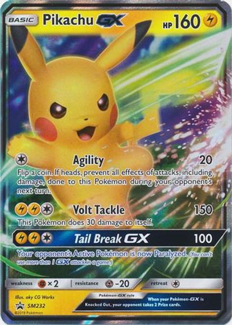 Pokemon Sun & Moon Promo Ultra Rare Pikachu GX SM232