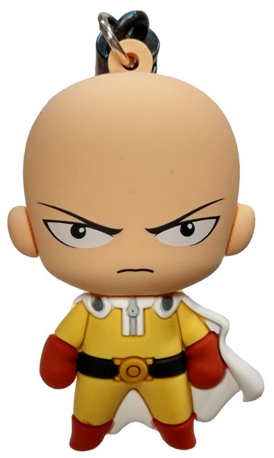 One Punch Man 3D Figural Foam Bag Clip Saitama Mystery Minifigure [Loose]