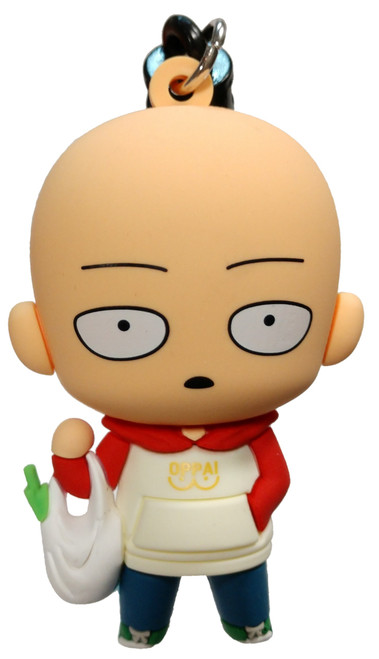 One Punch Man 3D Figural Foam Bag Clip Saitama with Grocery Bag Mystery Minifigure [Exclusive A Loose]