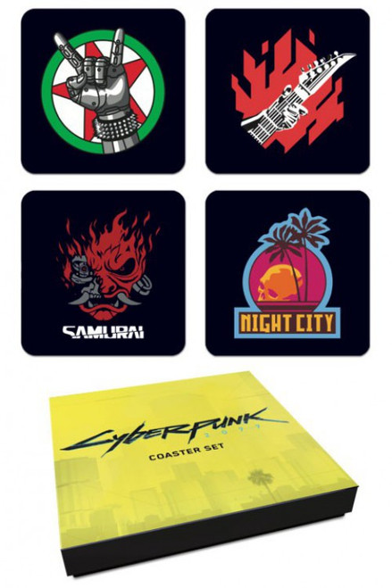 Cyberpunk 2077 Coaster Set [Version 1]