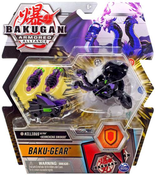 Bakugan Armored Alliance Baku-Gear Nillious Ultra + Scorching Swords Set