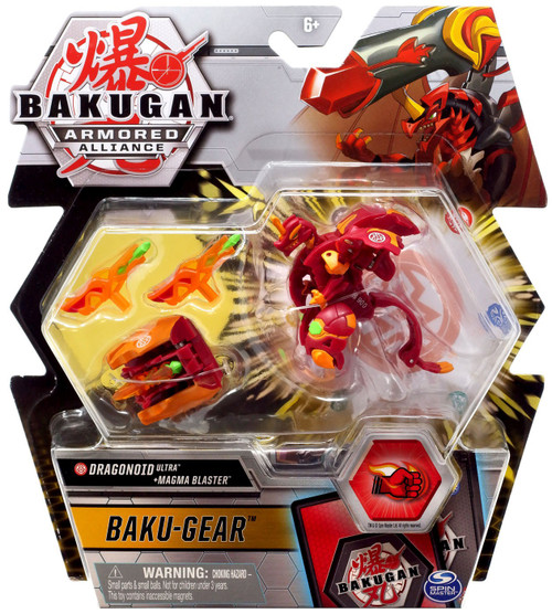 Bakugan Armored Alliance Baku-Gear Dragonoid Ultra + Magma Blaster Set