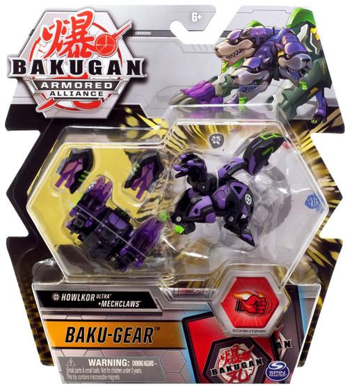 Bakugan Armored Alliance Baku-Gear Howlkor Ultra + Mechclaws Set