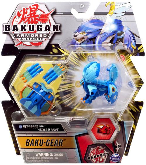 Bakugan Armored Alliance Baku-Gear Hydorous Ultra + Wings of Aquos Set
