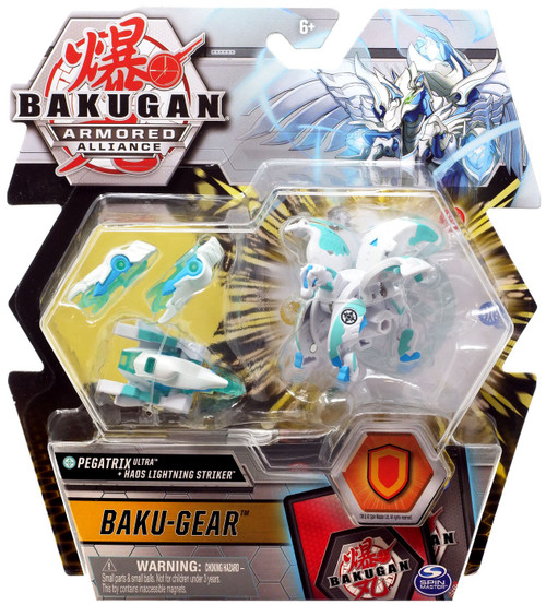Bakugan Armored Alliance Baku-Gear Pegatrix Ultra + Haos Lightning Striker Set