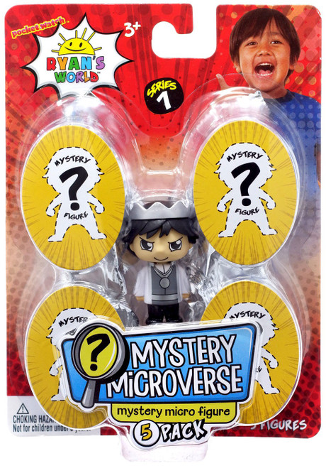 Pocket Watch Ryan's World Mystery Microverse Series 1 Prickly Prince Ryan & Mystery Micro Figure 5-Pack
