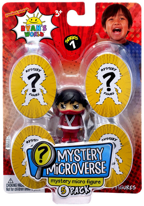 Ryan's World Mystery Microverse Series 1 Dark Ninja Ryan & Mystery Micro Figure 5-Pack