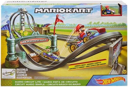 Hot Wheels Mario Kart Mario Circuit Lite Track Set