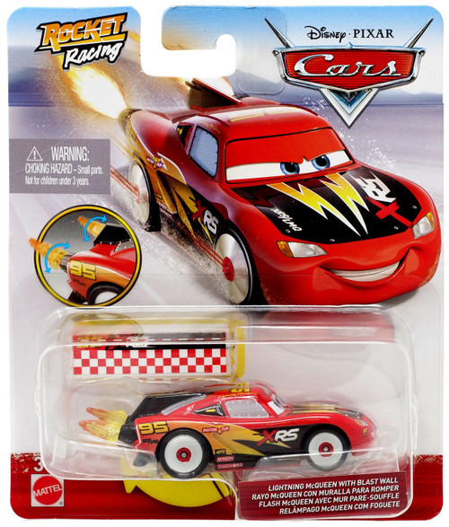 Disney / Pixar Cars Cars 3 Rocket Racing Lightning McQueen with Blast Wall Diecast Car
