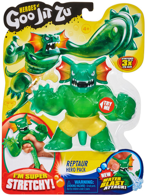 Heroes of Goo Jit Zu Reptaur Action Figure [Frill Neck, Water Blast]
