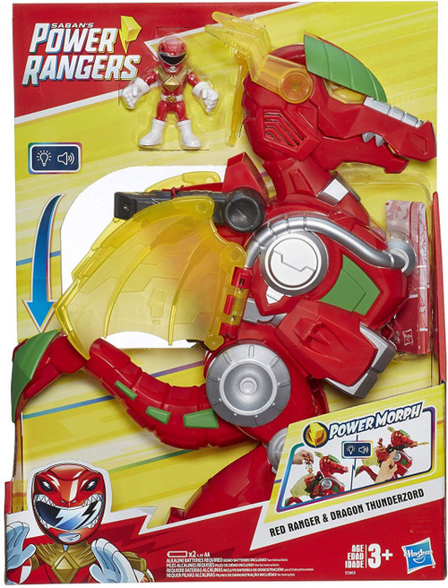 Power Rangers Red Ranger & Dragon Thunderzord Action Figure
