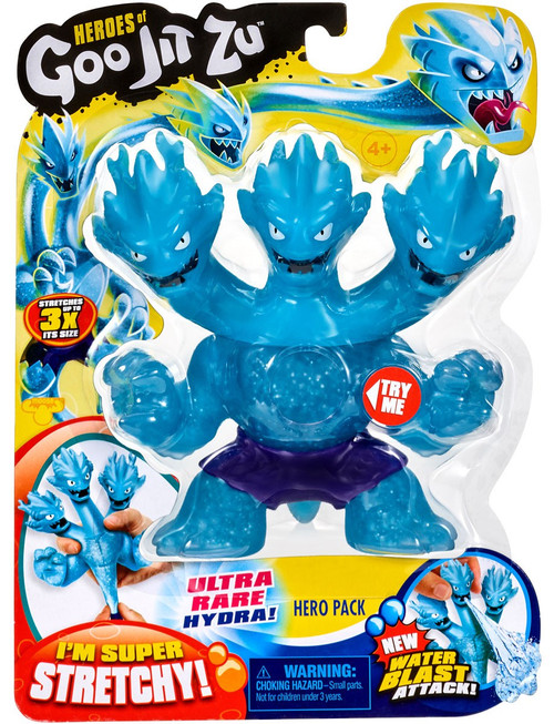 Heroes of Goo Jit Zu Hydra Ultra Rare Action Figure [3 Headed Dragon, Water Blast]